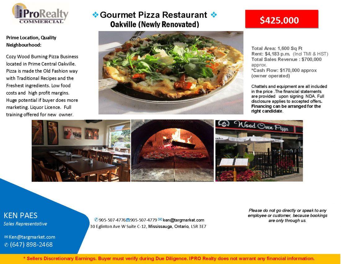 Pizza restaurant for sale
